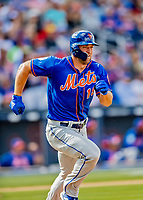 7 March 2019: New York Mets designated hitter Tim Tebow in action during a Spring Training Game against the Washington Nationals at the Ballpark of the Palm Beaches in West Palm Beach, Florida. The Nationals defeated the visiting Mets 6-4 in Grapefruit League, pre-season play. Mandatory Credit: Ed Wolfstein Photo *** RAW (NEF) Image File Available ***