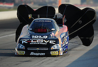 Sept. 3, 2011; Claremont, IN, USA: NHRA funny car driver Tony Pedregon during qualifying for the US Nationals at Lucas Oil Raceway. Mandatory Credit: Mark J. Rebilas-