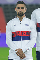 SWANSEA, WALES - NOVEMBER 12: Sebastian Lletget #17 of the United States starting eleven during a game between Wales and USMNT at Liberty Stadium on November 12, 2020 in Swansea, Wales.