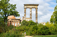 Monopteros und ionische Säulen auf dem Ruinenberg, Potsdam, Brandenburg, Deutschland
