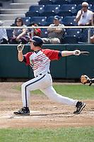 July 6, 2008: Travis Howell of the Everett AquaSox at-bat during a Northwest League game against the Yakima Bears at Everett Memorial Stadium in Everett, Washington.