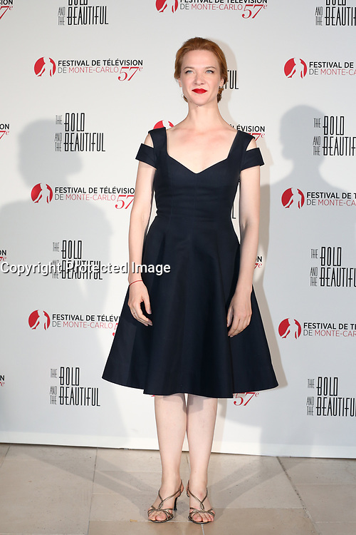 Monte-Carlo, Monaco, 18/06/2017 - 30th Anniversary of 'The Bold and the Beautiful' party Arrival Photocall at the Monte-Carlo Bay, Monaco, during the 57th Monte-Carlo Television Festival. Odile Vuillemin. # 30EME ANNIVERSAIRE DE 'AMOUR, GLOIRE ET BEAUTE'