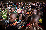 CAR, Bangui: Boys pupils in the Galabadga school. As there is a lack of teachers and structure, there are around 100 pupils in one class and for only one teacher.<br /> <br /> RCA, Bangui : Des élèves de l'école Galabadga . Comme il y a un manque d'enseignants et de la structure , il y a environ 100 élèves dans une classe  pour un seul enseignant .