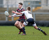 Tuesday 28th February 2017 | ULSTER SCHOOLS CUP SEMI-FINAL<br /> <br /> Jack Burton during the Ulster Schools Cup Semi-Final between MCB and BRA at Kingspan Stadium, Ravenhill Park, Belfast, Northern Ireland. <br /> <br /> Photograph by John Dickson | www.dicksondigital.com