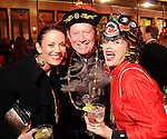 """From left: Keath Lewis, """"Stretch"""" Lewis and Cara Moore at the Mardi Gras Ball at the Tremont House in Galveston Saturday Feb. 13,2010.(Dave Rossman Photo)"""