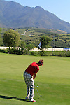 Ian Poulter (ENG) chips onto the 7th green during the morning session on Day 3 of the Volvo World Match Play Championship in Finca Cortesin, Casares, Spain, 21st May 2011. (Photo Eoin Clarke/Golffile 2011)