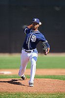 San Diego Padres pitcher Manny Guzman (90) during an Instructional League game against the Texas Rangers on October 3, 2016 at the Peoria Sports Complex in Peoria, Arizona.  (Mike Janes/Four Seam Images)