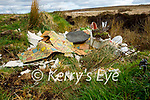 The site of illegal dumping in the bog at Meenleitrim, Castleisland on Tuesday.