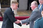 King Juan Carlos I gives award to Marcus Walz during National Sport Awards 2016 at El Pardo Palace in Madrid , Spain. February 19, 2018. (ALTERPHOTOS/Borja B.Hojas)