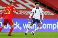 SWANSEA, WALES - NOVEMBER 12: Weston McKennie #8 of the United States moves to the ball during a game between Wales and USMNT at Liberty Stadium on November 12, 2020 in Swansea, Wales.