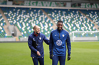 BELFAST, NORTHERN IRELAND - MARCH 28: USMNT head coach Gregg Berhalter and Kellyn Acosta #23 of the United States before a game between Northern Ireland and USMNT at Windsor Park on March 28, 2021 in Belfast, Northern Ireland.