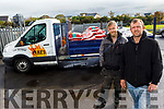David Galway and Lucas Heiko working at All Fuel Supplies (AFS) in Tralee.