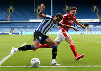 Sheffield Wednesday's Jacob Murphy under pressure from Nottingham Forest's Yuri Ribeiro <br /> <br /> Photographer Rich Linley/CameraSport<br /> <br /> The EFL Sky Bet Championship - Sheffield Wednesday v Nottingham Forest - Saturday 20th June 2020 - Hillsborough - Sheffield <br /> <br /> World Copyright © 2020 CameraSport. All rights reserved. 43 Linden Ave. Countesthorpe. Leicester. England. LE8 5PG - Tel: +44 (0) 116 277 4147 - admin@camerasport.com - www.camerasport.com