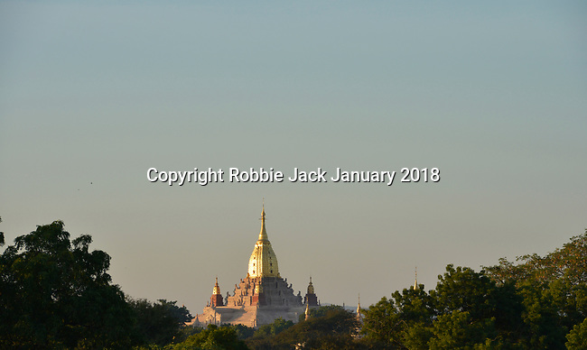 Burma, Myanmar, Bagan,The Ananda Temple is a Buddhist temple built in 1105 AD during the reign of King Kyanzittha of the Pagan Dynasty.
