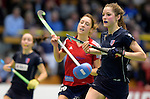 GER - Luebeck, Germany, February 06: During the 1. Bundesliga Damen indoor hockey semi final match at the Final 4 between Berliner HC (blue) and Duesseldorfer HC (red) on February 6, 2016 at Hansehalle Luebeck in Luebeck, Germany. Final score 1-3 (HT 0-1). (Photo by Dirk Markgraf / www.265-images.com) *** Local caption *** Hanna Schniewind #20 of Berliner HC