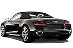 Rear three quarter view of a 2010 - 2012 Audi R8 Spyder v10 2 Door Convertible.