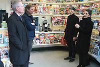 Jean-paul Abonnenc Directeur general de Mediakiosk, Olivia Polski adjointe à la maire de Paris - Inauguration des nouveaux kiosques de presse parisien, 13/03/2017