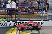 #20: Christopher Bell, Joe Gibbs Racing, Toyota Camry Ruud and #7: Justin Allgaier, JR Motorsports, Chevrolet Camaro Precision Tank