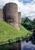 Wales, Offa's Dyke Footpath.  White Castle, a 12th-13th-century Norman Castle.  Monmouthshire.
