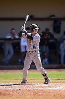 Drew Davis (16) of the Kennesaw State Owls at bat against the Winthrop Eagles at the Winthrop Ballpark on March 15, 2015 in Rock Hill, South Carolina.  The Eagles defeated the Owls 11-4.  (Brian Westerholt/Four Seam Images)