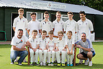 Pix: Shaun Flannery/shaunflanneryphotography.com<br /> <br /> COPYRIGHT PICTURE>>SHAUN FLANNERY>01302-570814>>07778315553>><br /> <br /> 7th July 2014.<br /> Sprotbrough Cricket Under 15's Cricket Team 2014.<br /> Top L/R Tom Douthwaite, Nathan Spencer, Charlie Critchley, Harry Thompson, Josh Paskell, Cameron Ali<br /> Bottom L/R Neil Critchley, Elliott Hardy, Callum Marsh, Jacob Watson, Josh Cape, Danny Wright, Nigel Spencer.
