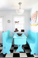light blue kitchen table set