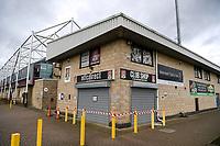 10th October 2020; Sixfields Stadium, Northampton, East Midlands, England; English Football League One, Northampton Town versus Peterborough United; The closed club shop.