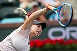 March 13, 2018: Amanda Anisimova (USA) defeated by Karolina Pliskova (CZE) 6-1, 7-6(2) at the BNP Paribas Open played at the Indian Wells Tennis Garden in Indian Wells, California. ©Mal Taam/TennisClix/CSM