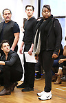 """Corey Cott, Eliseo Roman, Chris Dwan and Alex Newell during a Performance Sneak Peek of The MCP Production of """"The Scarlet Pimpernel"""" at Pearl Rehearsal studio Theatre on February 14, 2019 in New York City."""