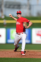 Philadelphia Phillies pitcher Michael Nesseth during an exhibition game against the University of Tampa on March 1, 2015 at Bright House Field in Clearwater, Florida.  University of Tampa defeated Philadelphia 6-2.  (Mike Janes/Four Seam Images)