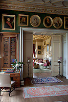 View of the drawing room from the library
