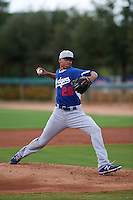 Los Angeles Dodgers pitcher Imani Abdullah (28) during an instructional league game against the Cincinnati Reds on October 20, 2015 at Cameblack Ranch in Glendale, Arizona.  (Mike Janes/Four Seam Images)