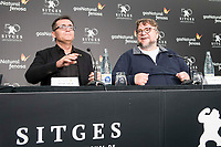 "Director of Sitges festival, Angel Sala and mexican director Guillermo del Toro during press conference of presentation of film 'The Shape of Water"" during Sitges Film Festival in Barcelona, Spain October 05, 2017. (ALTERPHOTOS/Borja B.Hojas) /NortePhoto.com /NortePhoto.com"