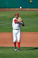 Jose Rojas (2) of the Orem Owlz during the game against the Grand Junction Rockies in Pioneer League action at Home of the Owlz on July 6, 2016 in Orem, Utah. The Owlz defeated the Rockies 9-1 in Game 1 of the double header.   (Stephen Smith/Four Seam Images)