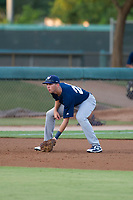 AZL Brewers third baseman Nick Egnatuk (24) on defense against the AZL Dodgers on July 25, 2017 at Camelback Ranch in Glendale, Arizona. AZL Dodgers defeated the AZL Brewers 8-3. (Zachary Lucy/Four Seam Images)