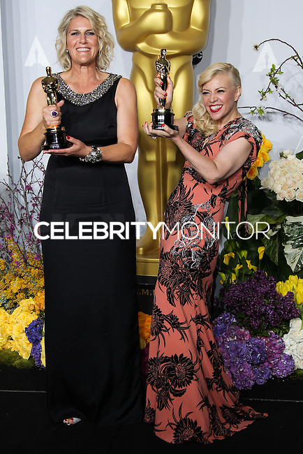 HOLLYWOOD, LOS ANGELES, CA, USA - MARCH 02: Beverley Dunn, Catherine Martin at the 86th Annual Academy Awards - Press Room held at Dolby Theatre on March 2, 2014 in Hollywood, Los Angeles, California, United States. (Photo by Xavier Collin/Celebrity Monitor)
