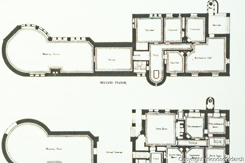 H.H. Richardson: Ames Gate Lodge, N. Easton, MA. Floor plan , 1880.