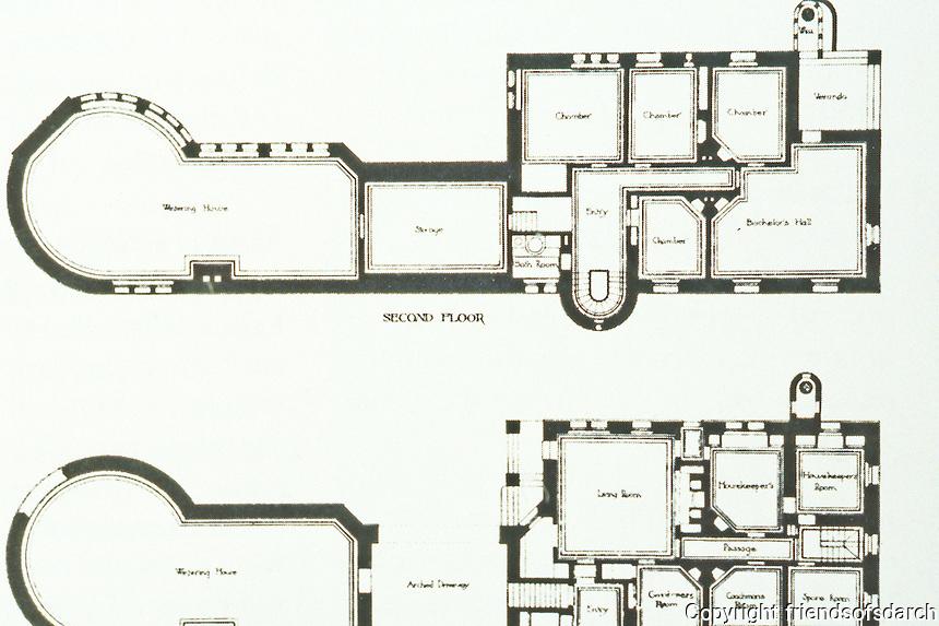H.H. Richardson: Ames Gate Lodge, N. Easton, MA. Floor plan , 1880.