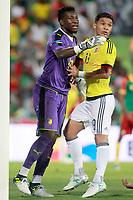 Colombia's Teo Gutierrez (r) and Cameroon's Andre Onana during international friendly match. June 13,2017.(ALTERPHOTOS/Acero) (NortePhoto.com) (NortePhoto.com)