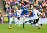 St Johnstone v Lask…26.08.21  McDiarmid Park    Europa Conference League Qualifier<br />Murray Davidson goes by Peter Michorl<br />Picture by Graeme Hart.<br />Copyright Perthshire Picture Agency<br />Tel: 01738 623350  Mobile: 07990 594431