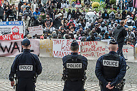 Calais Migrants demo 5-9-15