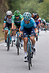 Frantic action from Stage 17 of La Vuelta d'Espana 2021, running 185.8km from Unquera to Lagos de Covadonga, Spain. 1st September 2021.    <br /> Picture: Luis Angel Gomez/Photogomezsport   Cyclefile<br /> <br /> All photos usage must carry mandatory copyright credit (© Cyclefile   Luis Angel Gomez/Photogomezsport)