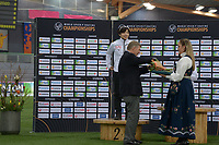 SPEEDSKATING: HAMAR: Vikingskipet, 29-02-2020, ISU World Speed Skating Championships, Sprint, Final Podium, Nao Kodaira (JPN), Jan Dijkema (President ISU), ©photo Martin de Jong