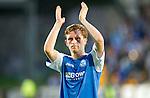 St Johnstone v Eskisehirspor...26.07.12  Europa League Qualifyer.Liam Crag applauds the fans.Picture by Graeme Hart..Copyright Perthshire Picture Agency.Tel: 01738 623350  Mobile: 07990 594431
