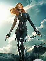 Avengers: Age Of Ultron.   2015<br /> Picture shows:  Scarlett Johansson as The Black Widow in a poster for the movie.<br /> 75596<br /> EDITORIAL USE ONLY
