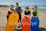 Enjoying Banna beach on Saturday, l to r: Jack and Mikey Corridan, Cathal Harris and Seanie Fehan from Kilmoyley.