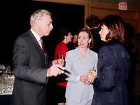 1998 File Photo - Gordon Thiessen, Bank of Canada (L), Monique Leroux (M)<br /> <br /> PHOTO :  Agence Quebec Presse