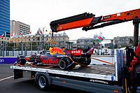 6th June 2021; F1 Grand Prix of Azerbaijan, Race Day;  VERSTAPPEN Max ned, Red Bull Racing Honda RB16B after his crash during the Formula 1 Azerbaijan Grand Prix 2021 at the Baku City Circuit