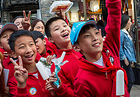 Yangzhou, Jiangsu, China.  Chinese Schoolboys.