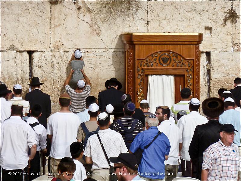 Praying at Western Wall, Old Jerusalem